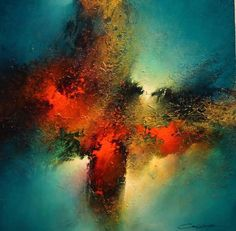 Passions Emerge | From a unique collection of abstract-paintings at https://www.1stdibs.com/art/paintings/abstract-paintings/