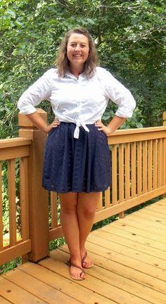Undergraduate Style: White button-down + navy dress