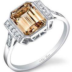 3-carat, fancy-colored diamond ring designed by Neil Lane