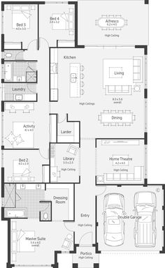36 Pictures Of Practical Magic House Floor Plan for House Plan - Cottage house plans 4 Bedroom House Plans, New House Plans, Dream House Plans, House Floor Plans, Home Design Floor Plans, Dream Home Design, Plan Design, House Design, The Plan