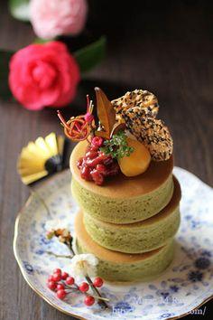 Japanese Style Extra Thick Matcha Pancakes 厚焼き茶ホットケーキ