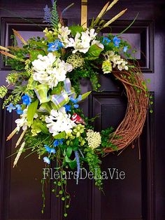 A personal favorite from my Etsy shop https://www.etsy.com/listing/224775234/front-door-wreath-spring-door-wreath