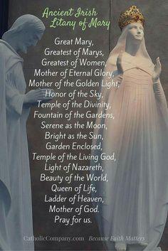 ~Ancient Irish Litany of Mary