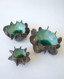 Sea Form Bowls @ Moko Artspace #HotwaterBeach #CeramicArt #NZART
