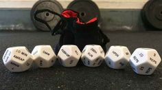 WOD dice for randomized workouts