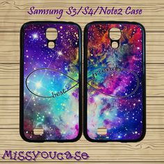 Samsung Galaxy Note2 Case,Samsung galaxy S4,Samsung galaxy S3,cute Samsung S3 Case,cute Samsung S4 Case,Fox Nebula,Infinity,best friends. S4Samsung by Missyoucase, $28.95