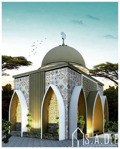 Image may contain: sky and outdoor Mosque Architecture, Studios Architecture, Concept Architecture, Futuristic Architecture, Architecture Details, House Arch Design, Small House Design, Architect House, Architect Design