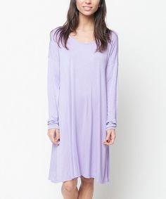 Look at this Caralase Lilac Pleated Shift Dress on #zulily today!