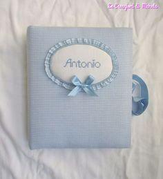 Album foto nascita a quadretti per Antonio - della categoria Punto Croce dall'album di Michela.