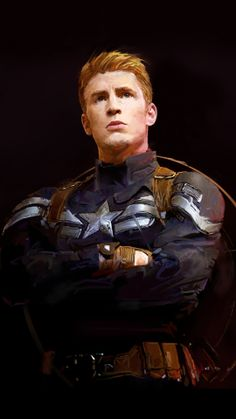 Captain America by David Seguin.