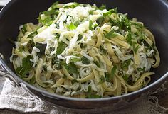 Tefal's wok-tossed tagliatelle squid with fresh herbs and lemon