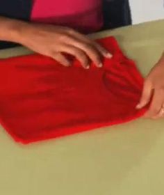T shirt folding on pinterest college packing tips stone for Japanese way to fold shirts