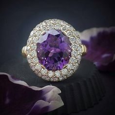 Leo Pizzo #amethyst #diamonds  #white gold                                                                                                                                                                                 More
