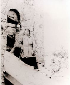 Nikos Kazantzakis and Elli Lambridi in Switzerland, 1918 Zorba The Greek, Magnum Opus, Screenwriting, Crete, Switzerland, Writers, Novels, Museum, Costume