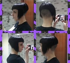 Concave Bob Hairstyles, Bobbed Hairstyles With Fringe, Graduated Bob Hairstyles, Bob Hairstyles For Round Face, Inverted Bob Hairstyles, Bob Haircut With Bangs, Bob Hairstyles For Fine Hair, Shaved Hair Cuts, Shaved Nape
