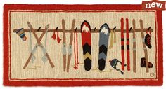 Ski cabin rug - 2x4 size is great for hearth, kitchen, laundry area or bathroom
