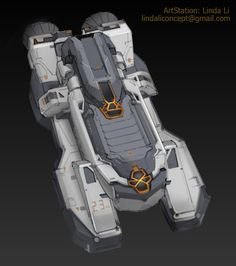 Spaceship Design by Linda Li on ArtStation. Linda Li, Sci Fi News, Sci Fi City, Starship Concept, Sci Fi Ships, Spaceship Design, Futuristic Art, Expedition Vehicle, Space Ship