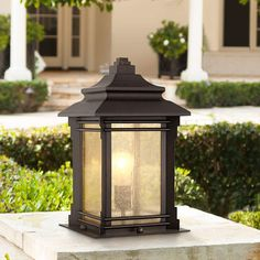 Hickory Point 16 And One Half Inch Walnut Bronze Outdoor Pier Mount Light Outdoor Post Lights, Outdoor Lighting, Outdoor Pillar Lights, Exterior Lighting, Lighting Ideas, Driveway Lighting, Backyard Lighting, Outdoor Ideas, Outdoor Spaces
