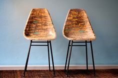 french fiber glas chairs - one available