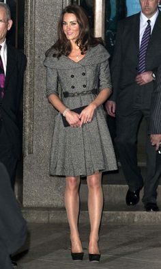 Kate Middleton Rocked A Jesiré Coat Dress And Jimmy Choo Shoes In London, 2012