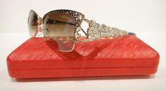 8843bd8ad16 Caviar 5600 sunglasses gold bronze (c84) crystal stones new