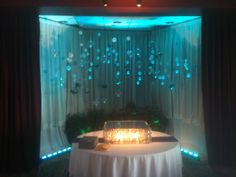Floating Cake Table in a Banquet room