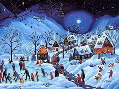 Josef Lada Vanocni Obrazky | Vánoční obrázky