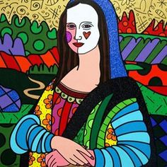 Portraits by Romero Britto™ - Mona Lisa by ♥️ Mona Lisa Artist, Mona Lisa Drawing, Mona Lisa Parody, 6th Grade Art, Principles Of Art, School Art Projects, Painting Gallery, Renaissance Art, Outdoor Art
