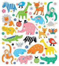 Zoo Stickers • Zoobies Stickers • Zoo Birthday • Zoo Party • Zoo Animal Sticker • Safari Birthday • Jungle Birthday • Animal Lover (SK4514)