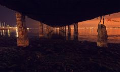night under the dock by George Xourafas on Long Exposure, Scrapbook, Night, Nature, Plants, Photography, Naturaleza, Photograph, Scrapbooks