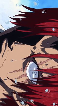 Shanks' cheerful and fun-loving nature is not a hoax. Eiichiro Oda even mentioned that Shanks's nature was similar to him. But good heart does not mea. One Piece Gif, One Piece Crew, One Piece Cosplay, Zoro One Piece, One Piece World, One Piece Fanart, Sengoku One Piece, One Piece Tattoos, One Piece Wallpaper Iphone