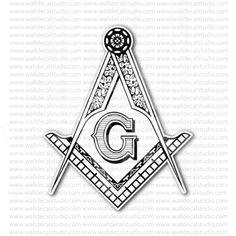 Masonic Square Compass Freemasonry Emblem Sticker