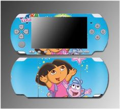Dora the Explorer Boots Backpack Nick Jr Video Game Vinyl Decal Sticker Cover Skin Protector #6 Sony PSP Slim 3000 3001 3002 3003 3004 Playstation Portable « Game Searches