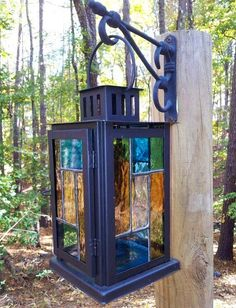 Stained Glass Decorative Lantern by GraceofGlass on Etsy