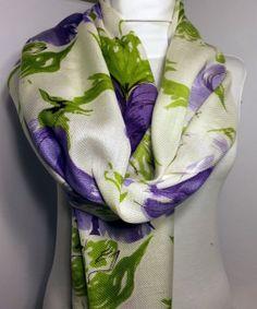 Pashmina Lilac Scarf  Flowering Scarf by PeraTime on Etsy, $22.00  #handmadeatamazon #nazodesign
