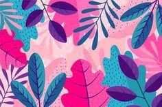 Layers of colourful leaves background Fr. Illustration Blume, Botanical Illustration, Motif Floral, Floral Design, Design Design, Design Elements, Motif Tropical, Vintage Typography, Vintage Logos