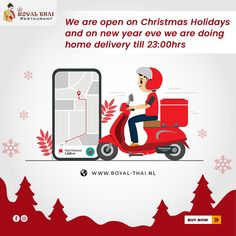 Staying indoors for new year? We got you covered with our extravagant range of tasteful cuisines. . . . #MerryChristmas #Christmas #ChristmasTime #ChristmasHolidays #ChristmasSpecial #OnlineOrder #FreeDelivery #Thai #ThaiFoods #ThaiDishes #Cuisines #FoodPorn #Foodie #ThaiCuisine #Restaurant #Yummy #Delicious #ThaiFoodLover #FoodLovers #FoodBlogger #SeaFood #ThaiRestaurant #RoyalThai #HygienicEnvironment Best Thai Restaurant, Christmas Holidays, Merry Christmas, Authentic Thai Food, Thai Dishes, Thai Recipes, Amsterdam, Seafood, Range