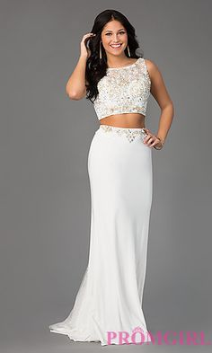 Two Piece Mori Lee Prom Dress at PromGirl.com