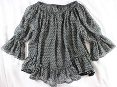 "~~~ BABYDOLL-POET ~~~ ISABEL MARANT ""RUFFLE TRIM"" PEASANT TOP/BLOUSE ~ 38 #IsabelMarant #Blouse #Casual"