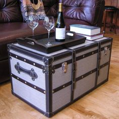 Decorative Vienna Large Wood Steamer Trunk Wooden Treasure Hope Chest - Overstock™ Shopping - Big Discounts on Decorative Trunks