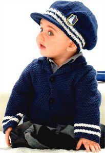 Bergere de France Babies Knitting Patterns Jacket & Hat Pattern 335.771