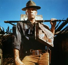 Lee Marvin in The Professionals (1966) #LeeMarvin another great Hollywood tough guy .