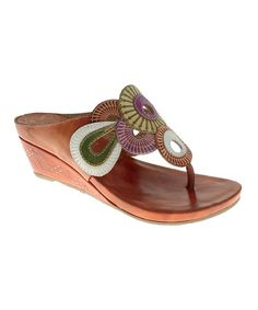 Take a look at this Camel Lotus Sandal by Spring Step on #zulily today!