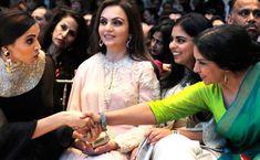 The private life of Nita Ambani Nita Ambani, Private Life, Baby Cardigan, Indian Wear, Contrast, Bride, Pakistani, Awesome, Amazing