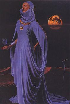 70s Sci-Fi Art ron miller - lady jessica (by Myriac Acia)