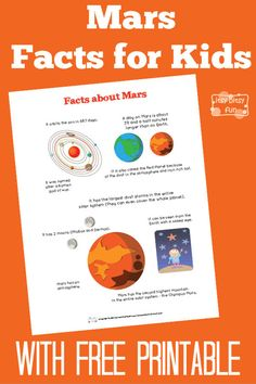 Fun Mars Facts for Kids - Itsy Bitsy Fun Jupiter Facts For Kids, Mars Facts For Kids, Mars For Kids, Fun Facts For Kids, Mars Project, Planet Project, Science Fair Projects, Projects For Kids, Solar System Facts