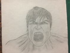 Angry Hulk, by face