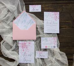 """Купить Приглашение на свадьбу """"Нежность"""" - бледно-розовый, приглашение, приглашение на свадьбу, свадебная полиграфия"""