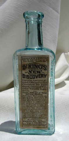 Antique Medicine Bottle Aqua254 by BottlesByTasha on Etsy, $16.00