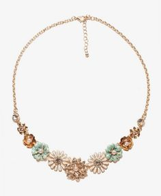 Lacquered Floral Pattern Necklace   FOREVER21 - 1020546841. i think i need this...